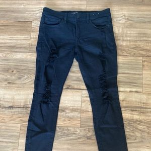 Express Ripped Destroyed Black Jeggings 4P
